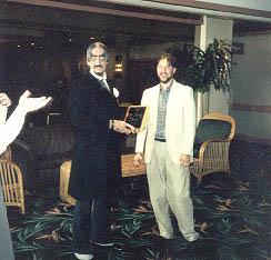 Dr.Paul Bearer receives his plaque